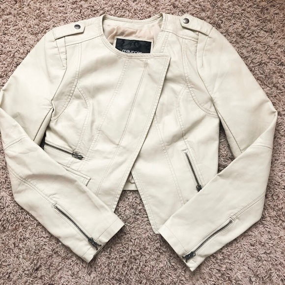 Maurices Jackets & Blazers - Maurice's Cropped Vegan Leather Moto Jacket